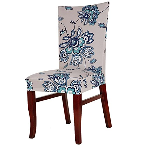 Hunputa Super Fit Stretch Removable Washable Short Dining Chair Cover Protector Seat Slipcover for Hotel,Dining Room,Ceremony (J)