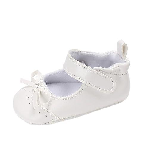 7337114577a76 Zapatos para bebé Auxma Princesa Bowknot PU de los bebés Zapatos suaves de  cuero de la