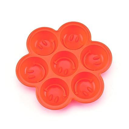 Lumanuby Fondant molde de silicona en Forma de Cara sonriente pasteles galletas Jelly Ice Muffin de