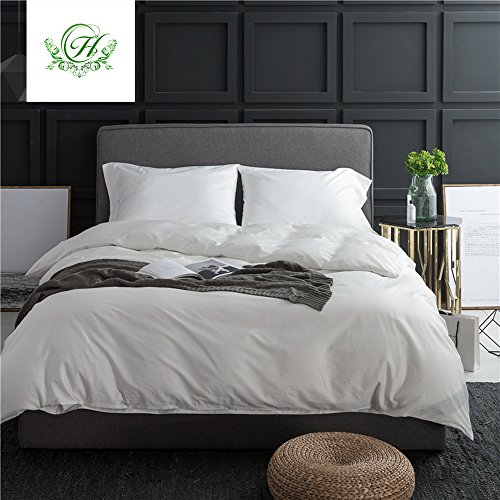 Cheap  LifeTB Elegant Solid White Luxury Wedding Duvet Cover Sets Queen Size with..