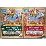 Earth's Best Organic Whole Grain Oatmeal & Whole Grain Rice (One 8 Oz Box of Each)