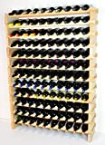 Cheap Modular Wine Rack Beechwood 40-120 Bottle Capacity 10 Bottles Across up to 12 Rows Newest Improved Model (120 Bottles – 12 Rows)