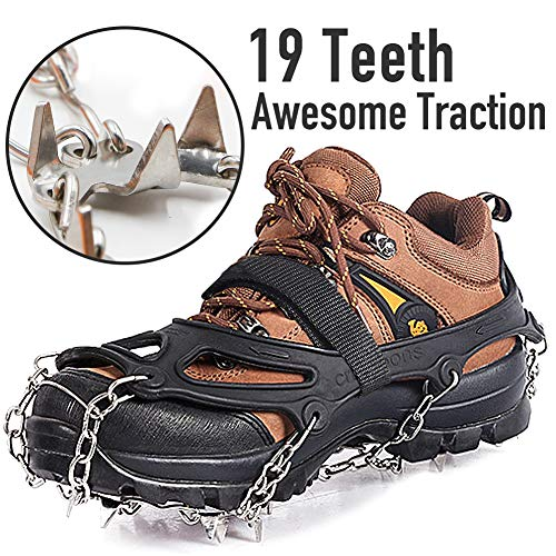 Hiking Crampon Traction Cleats - Sure Footing On Icy Trails!