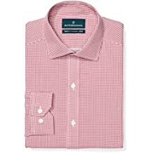 Buttoned Down Men's Tailored Fit Pattern Non-Iron Dress Shirt (3 Collars Available)