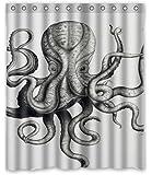 Custom Octopus Shower Curtain 60 X 72 Inch Bathroom Curtains (Octopus 04)