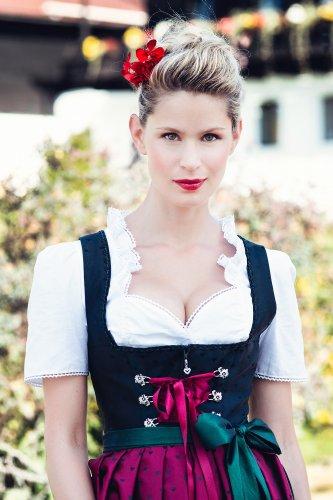 Dirndl Livia Schwarz Rot Alpentrachten