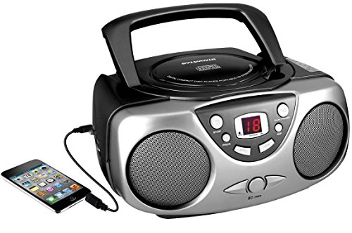 Sylvania SRCD243M-Black Portable CD Radio (Cd Portable Radio compare prices)