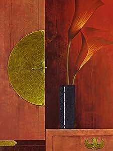 Mira Latour – Naturaleza muerta con calas de color rojo Artistica di Stampa (59,69 x 80,01 cm)