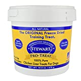 Stewart Freeze Dried Chicken Liver Dog Treats, Grain Free All Natural, Made in USA using Human Grade USDA Certified Liver by Pro-Treat, 16.8 oz., Resealable Tub