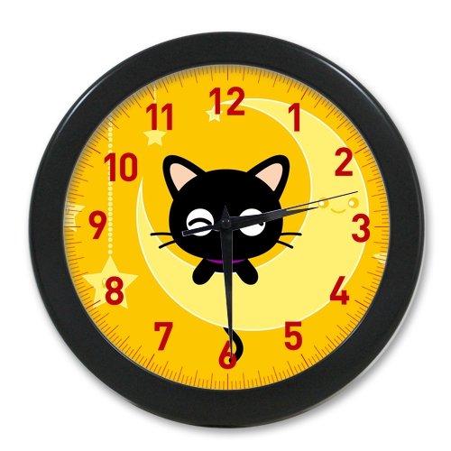 Pookeb Chococat luna amarilla carcasa Kawaii reloj Cubierta impresión moderna decoración para el hogar Decoraitve reloj