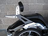 yamaha raider fender - YAMAHA STRYKER RAIDER SCL CHROME REAR CARRIER LUGGAGE RACK FOR TALL BACKREST
