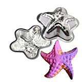 3d Bath Bomb Molds DIY Metal Molds, UMFunCrafting Metal Bath Bomb Mold Bath Fizzy Star Shape DIY Metal Molds Set of 2