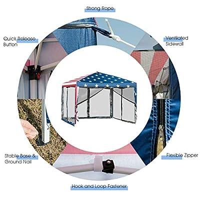 Outdoor 10' x 10' Pop-up Canopy Tent Gazebo Canopy Home Garden Lawn Living Outdoors Structures Canopies Shade House Décor Yard Awnings Marquees, Tents, Baldachin, Baldaquin, Balcony, Backyard, Patio. : Garden & Outdoor