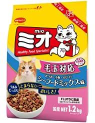 日亚: 日本 MIO三才 健康猫粮(高纤维去毛球配方 海鲜银鱼味)   410日元约¥21
