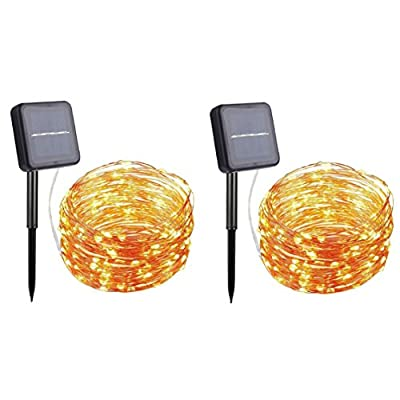 String Lights Pack of 2, YINUO LIGHT 66Ft 200LED Copper Wire Lights, Waterproof Starry String Lights, Indoor/Outdoor Decoration Lights for Christmas, Gardens, Patios, Parties