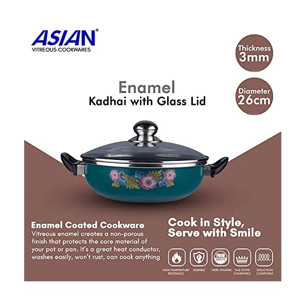 ASIAN-Enamel-Premium-Kadhai-with-Glass-Lid-26cm-Induction-and-Gas-Stove-Compatible-Multi-Color