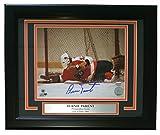 Bernie Parent Signed Framed Philadelphia Flyers 8x10 Diving Save Photo SI
