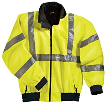 Tri-Mountain District Safety Reflective Jacket, S, Lime Green/Black