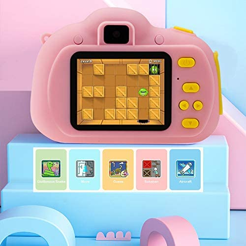 Cocopa Camera for Kids Cameras for Girls Video Camera 32 GB TF Card Toys for 5 4 6 Years Old Girls Selfie Digital Cameras for Children Birthday Gifts for Girls Aged 7 8 9 10 Toddlers (Pink)