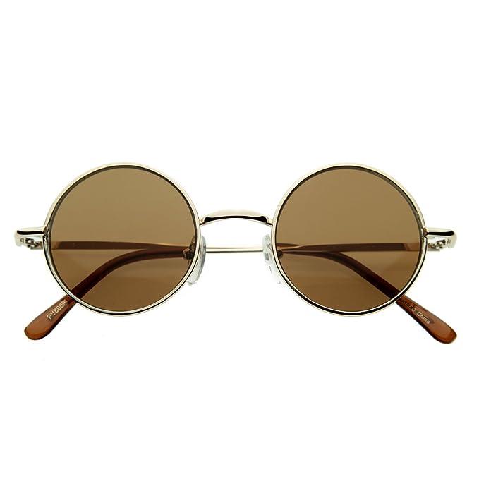ZeroUV - Gafas de sol - Retro - para hombre Dorado dorado ...