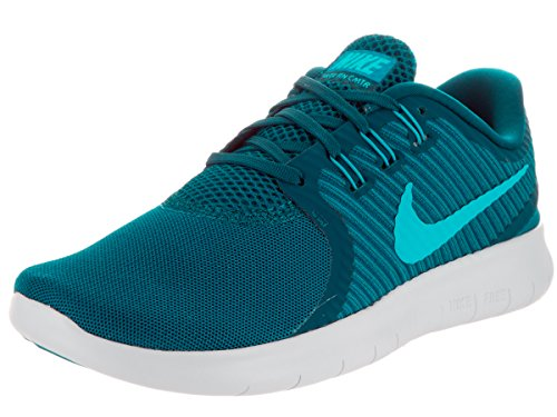 NIKE Women's Free RN Cmtr Green Abyss/BL Lagoon/GLCR BL Running Shoe 10 Women US (Womens Shoes Nike Cycling)