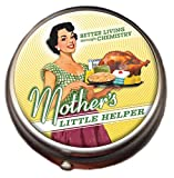 Mother's Little Helper Pill Box - Compact 1 or 2 Compartment Medicine Case