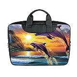 JIUDUIDODO Custom Dolphin Nylon Waterproof Bag Computer Bag Handbag for Laptop 15