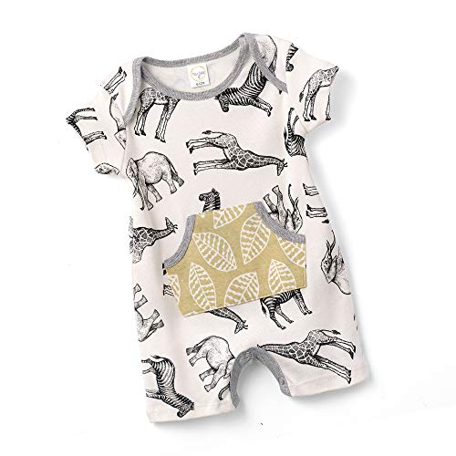 Tesa Babe Romper with Forest & Animals Print