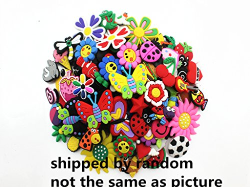 : 100pcs PVC Different Shoe Charms for Croc & Bracelet Wristband Kids Party Birthday Gifts