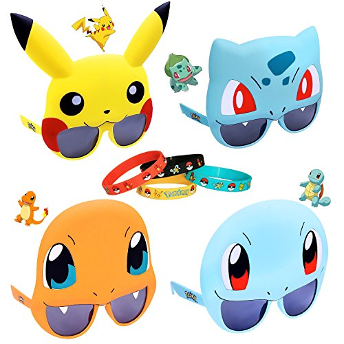 Pokemon Go Party Sunglasses and Bracelet (Pokemon Trainer Couples)