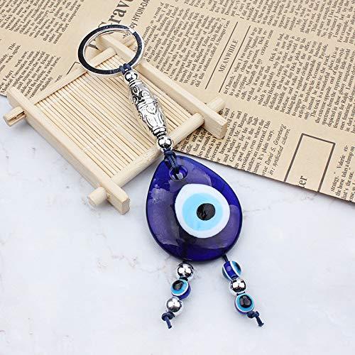 Amazon.com: Mal de ojo llavero Hamsa ojo azul llavero Coche ...