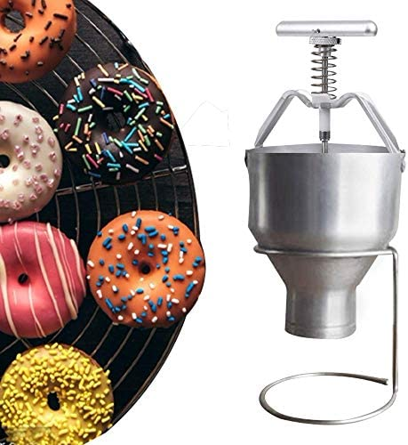 JIAWANSHUN Manual Donut Depositor Dropper Plunger Dough Batter Dispenser Hopper with stand