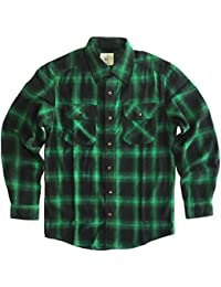 Men's Plaid Long Sleeve Relaxed Fit Flannel Shirt