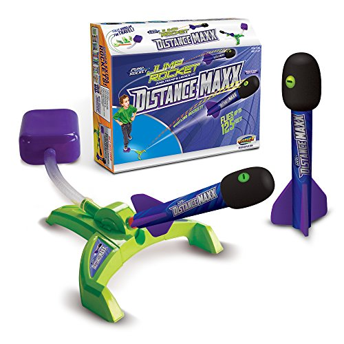Geospace Jump Rocket Distance Maxx By  Adjustable Launcher Base   Two Maxx Distance Rockets  Green   Purples