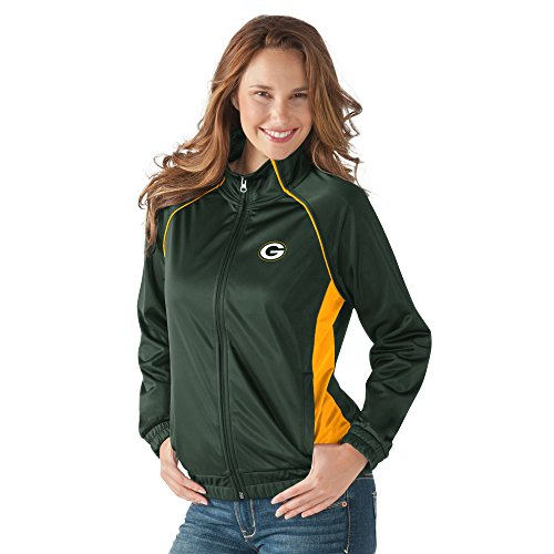 NFL Green Bay Packers Women's Track Jacket Rhinestone Accents (Large)