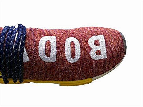 Angulor Razza Umana Nmd Hu Pallido Pista Nudo Pharrell Williams Sport Trainer Running Schuhe Rot