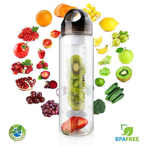 Fruit Infuser Water Bottle, MECO 24 oz Sports F...