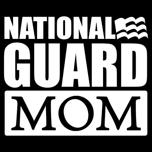 National Guard Mom Flag Vinyl Decal Sticker | Cars Trucks Vans Walls Laptops Cups | White | 5.5 X 4.5 Inch | KCD1714