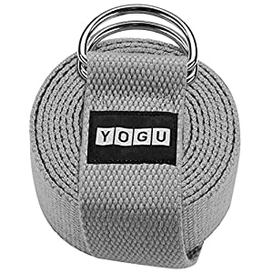 Well-Being-Matters 51CaAOZNKUL._SS300_ YOGU Exercise Yoga Strap Durable Polyester Cotton w/Adjustable D-Ring Buckle for Fitness Workout Stretching Flexibility…