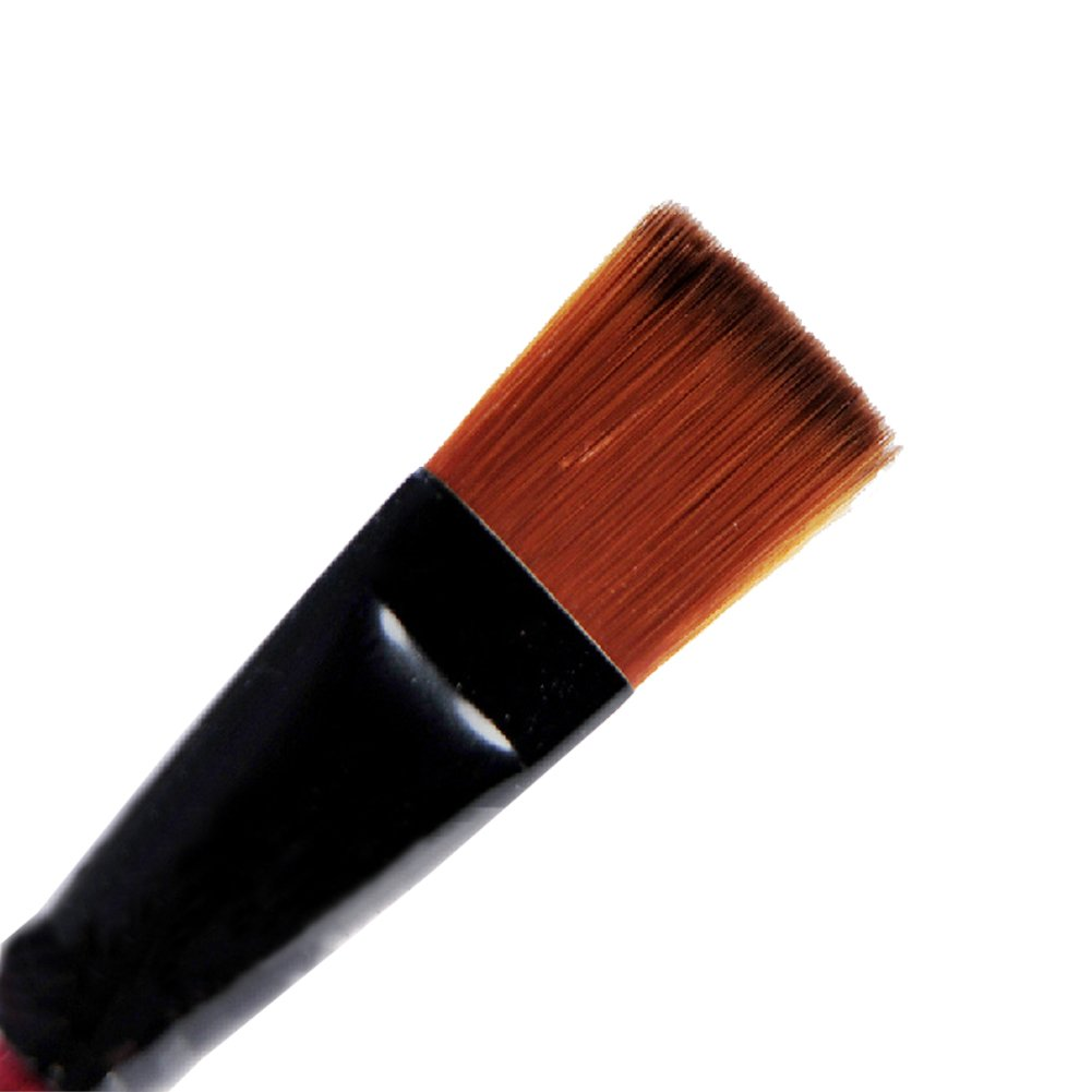 Tenflyer Pack of 6 Art Brown Nylon Paint Brushes for Acrylic FMISSACGHJH913