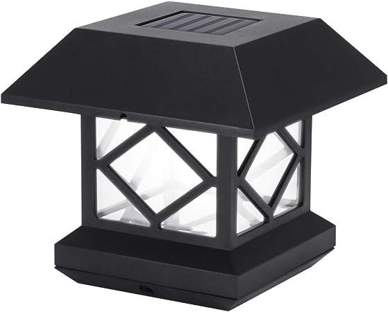 Winbang Luces de Poste, Luces Solares de Poste Luces de Pilar para Exteriores Luces LED de
