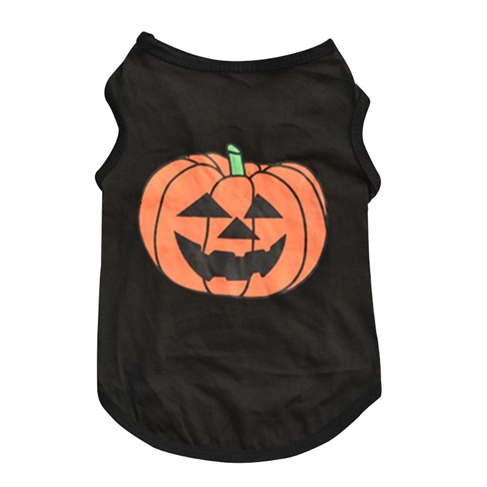 Leisial Ropa para Mascotas Algodón de Halloween Calabaza Perros Sueter del Perrito de la Camiseta Caliente Animales 61503330R3S0106