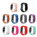 GinCoband 10PCS Fitbit Charge2 Replacement Bands for Fitbit Charge 2 Fitness Wristband with Metal Clasps