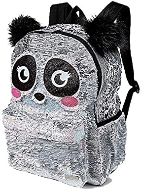 Justice Sparkle Panda Flip Sequin School Backpack
