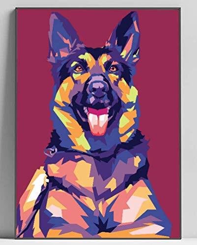German Shepherd Merchandise - OMG POP PRINTS German Shepherd Limited Poster Artwork - Professional Wall Art Merchandise (More (8x10)
