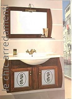 mobile bagno arredo legno massello arte povera classico - come ... - Arredo Bagno Classico Sospeso