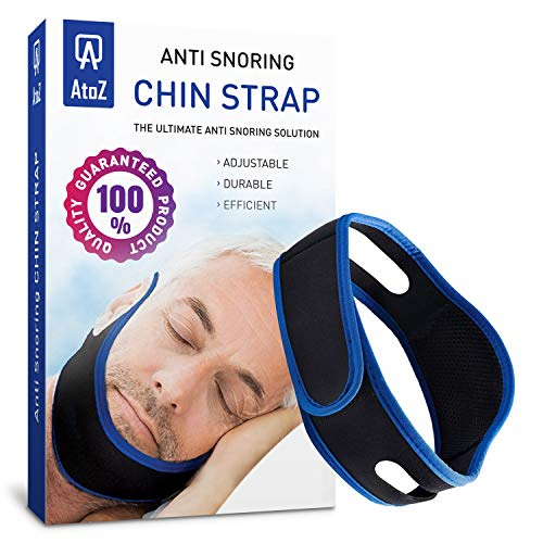 AtoZ New Anti snoring Chin Strap - Snore Stopper Strap - Best Adjustable Stop snoring Device - Chin Strap - Sleep Chin Strips - New Anti-Snoring Strap for Men Women jaw Support