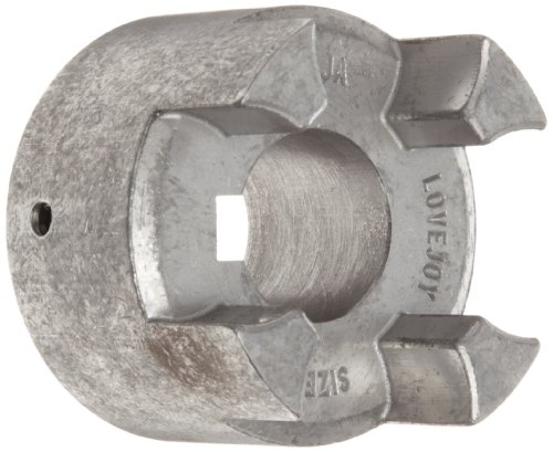 Lovejoy 66884 Size CJ 14/16B Curved Jaw Coupling Hub, Powdered Metal Steel, Inch, 0.188'' Bore, 1.18'' OD, 1.38'' Overall Coupling Length, 3/16