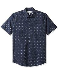 Amazon Essentials Men's Slim-fit Short-Sleeve Print Shirt
