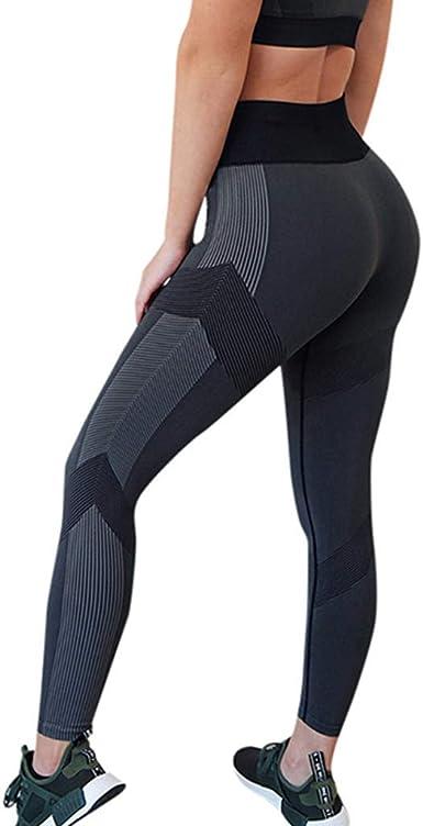 Risthy Leggings Deportes Pantalones Para Mujeres De Las Entrenamiento Gimnasio De Fitness Gym Yoga De Cintura Alta Casual Mallas Elasticas Sin Costura Para Mujer Amazon Es Ropa Y Accesorios